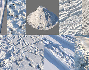 Realistic scanned winter areas and 3D model