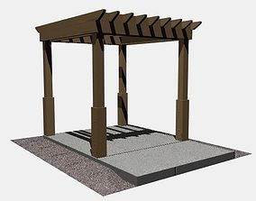Pergola 1 Freestanding 3D model