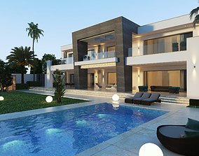 Modern 3d private villa