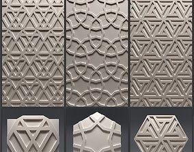 Gypsum 3D panel set 1