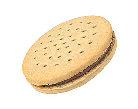 Photorealistic Cookie Sandwich 3D Scan 1