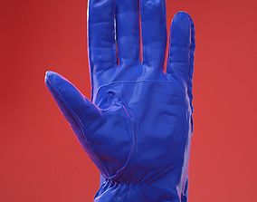 Male Gloved Hand 6 3D model