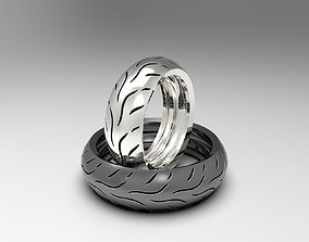Dunlop motorcycle tire rings set 3D print model