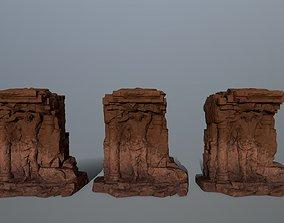 3D model low-poly statue 2