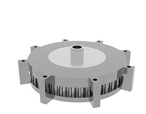 3D print model cycloid speed reducer drive 35 to 01