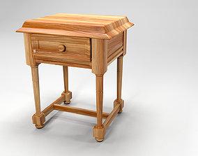 Carpenter telephone table wood 3D asset