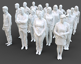 Stylized Human Statues Pack 3D asset VR / AR ready
