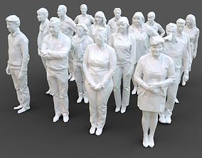 16 Stylized Human Statues Pack V5 3D asset