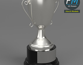3D model Silver trophy cup