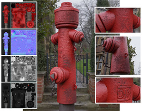 3D model Fire Hydrant VAG 2 - Red and Rosty 1 -