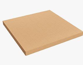 3D Cardboard pizza box closed 01
