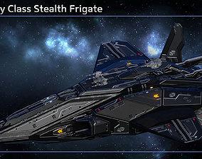 3D asset Spaceship Stealth Frigate Stingray