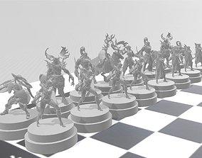 ajedrez warcraft version elfo 3D print model
