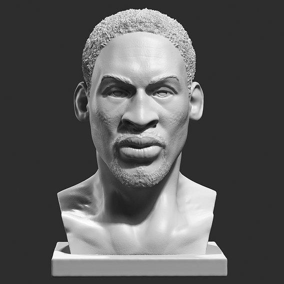 Dennis Rodman bust 3D print model