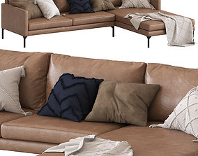 Globewest Bogart 2 seater sofa sofa with chaise 3D model