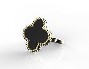 van cleef arpel Magic Alahambra Ring 3D print model