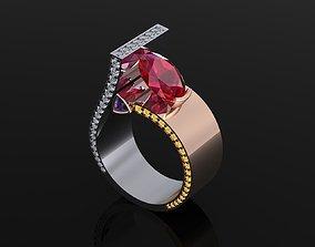 Ring 51 3D print model wedding halo