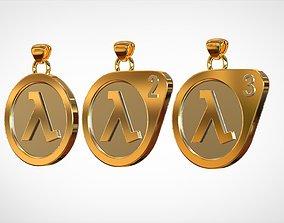 3D print model Half-Life Logo Pendants