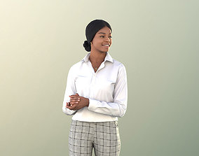 3D asset Black Business Woman in Office - 11408 Micaela