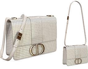 Dior 30 Montaigne Bag Metallic Steel Gray 3D model