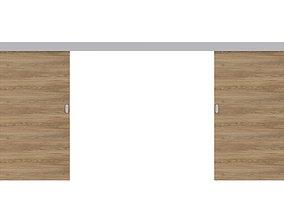Wood Sliding Door 3D