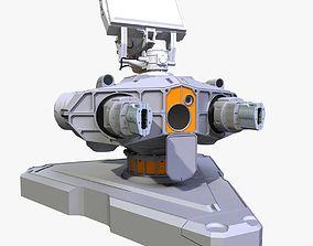 Sci-Fi Ground Laser Turret 3D