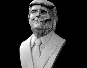 Donald Trump Skull Bust dictator 3D print model