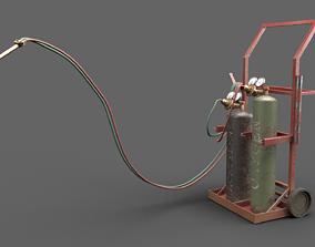 3D asset Welding Set Torch PBR