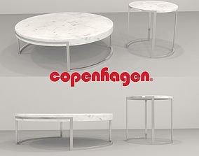 Copenhagen Modern Coffee Table and End 3D model