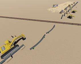 pipe line 3D asset