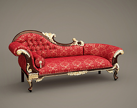 3D model Fabulous and Baroque Chaiselongue A
