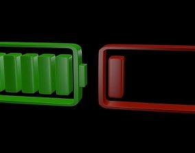 3D model Battery symbol