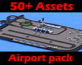 Airport pack gta sa style 3D asset