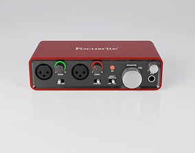 Focusrite Scarlett 2i2 Audio Interface 3D model