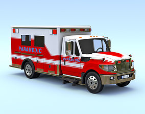 Ambulance 3D model low-poly PBR