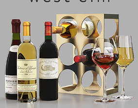 West Elm Metal Wine Rack 3D