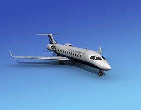Canadair CRJ200 Atlanta Air Express 3D model