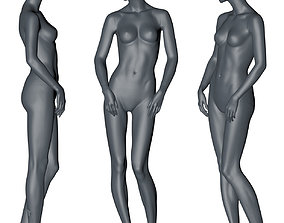 female mannequin stand position 3d print model other