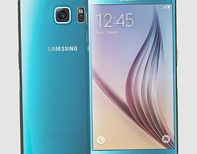 Samsung Galaxy S6 Blue Topaz 3D