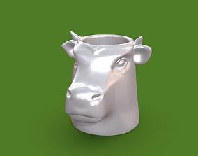 glass 3D printable model Vase 5 Cowhead
