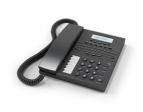 Black Office Phone 3D model