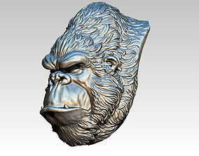 Gorila Monkey Chimp head face bust 3D print model