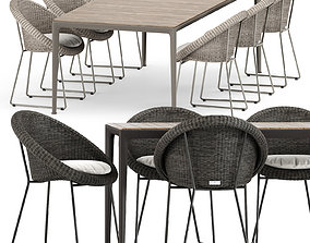 Gigi II Armchair by Janus et cie and Mirto Outdoor 3D