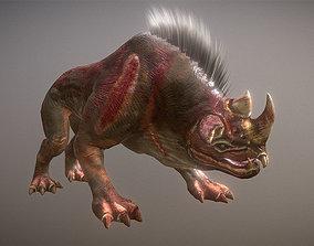 Underground Monster 3D asset