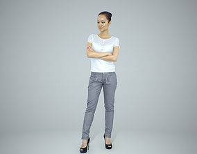 3D Standing Business Woman with Black Heels