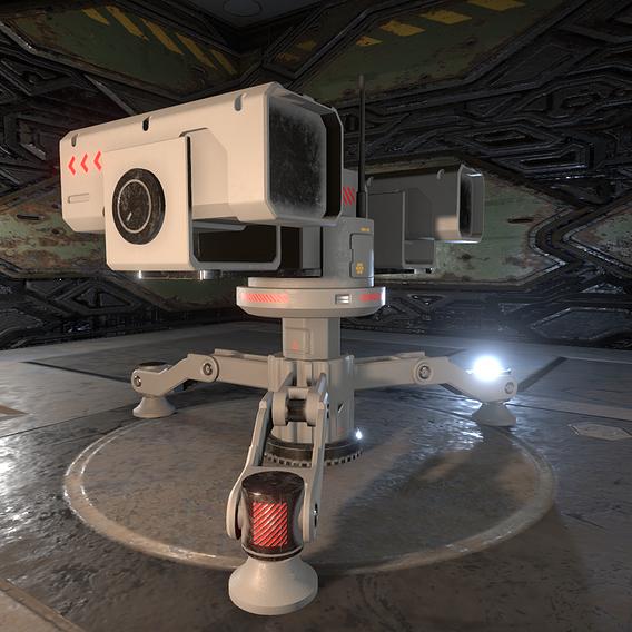 Sci-Fi Auto Turret 01