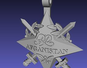 Official Afganistan polish star decoration 3D print model