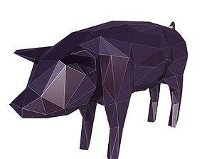 3D model Pig Low Poly v1