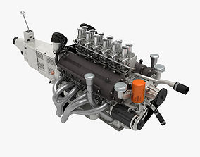 Ferrari Colombo V12 Engine - 3 liter 3D