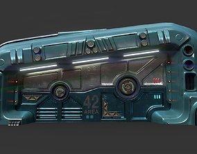 3D asset Sci-Fi Door 06